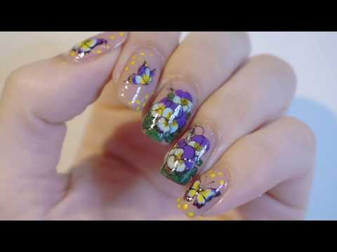 Easy Reverse Stamping | Heartsease Flowers