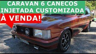 Caravan Comodoro 6 cilindros à venda 1980 customizada injetada