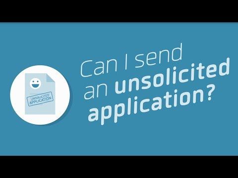 Can I send an unsolicited application? - Workindenmark