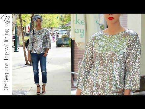 Nadira037 | DIY Sequins Top with lining