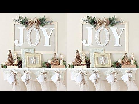 2017 Christmas Mantel Decorations Ideas