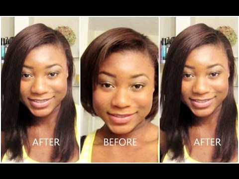 how to put in clip in extensions on short relaxed african american hair