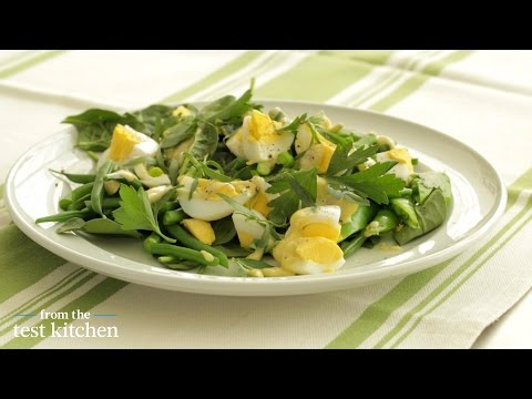 Garden Greens with Chopped Egg Salad - From the Test Kitchen