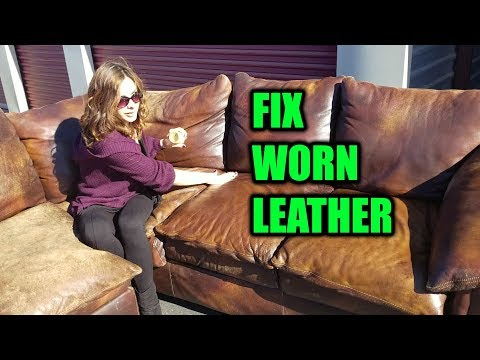 How to Fix Faded Leather, Dried, Scratched, Worn Leather