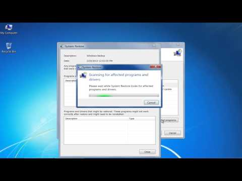 How to Restore Windows 7