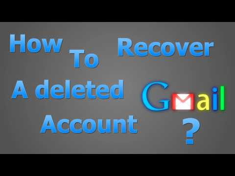 How to recover a deleted Gmail account?