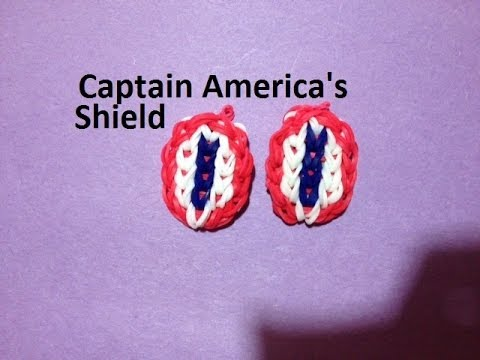 How to Make Captain America's Shield on the Rainbow Loom - Original Design