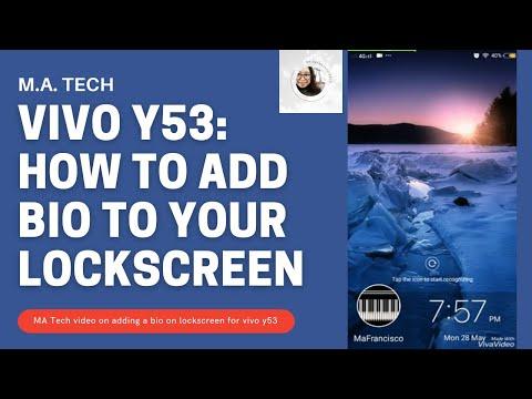 Vivo Y53: How to Add Bio to your Lockscreen