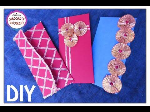 3 Easy DIY Unique Handmade Gota Shagun/ Wedding Money Envelopes by Jyoti Sachdeva .