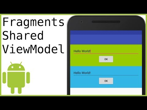 How to Send Data Between 2 Fragments Using a Shared ViewModel - Android Studio Tutorial