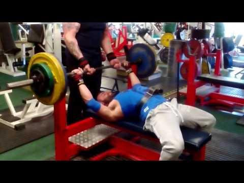 Ryan Goligher 115kg Bench Press with belt boner 😝