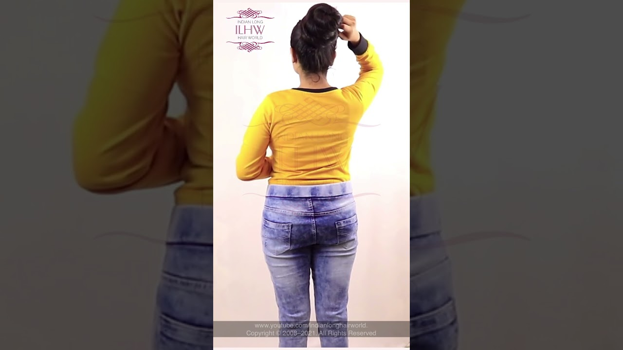 Best Bun Drop On YouTube   Bun Drop Challenge 2021   How to: Bun Drop   Long Hair Bun Drop Tutorial