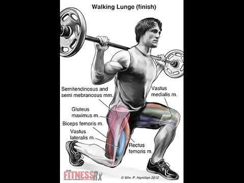 Walking lunges are great for toning, and building legs and glutes.