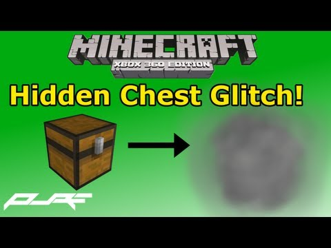 Minecraft Xbox 360: Chest Glitch | How to Hide Your Chest!