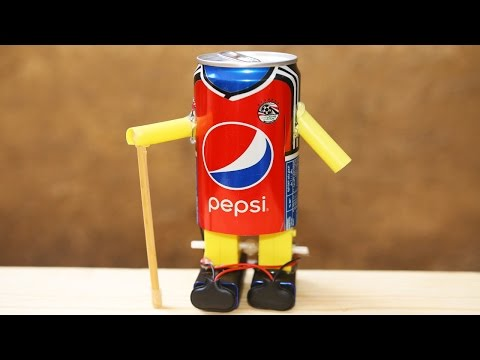 How To Make A Walking Robot With A Pepsi Can