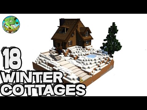 18 Winter Cottages in Minecraft - with Keralis!