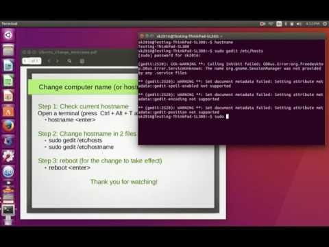 ubuntu change hostname