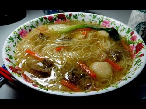 Taiwanese fish ball and pork kidney somen soup