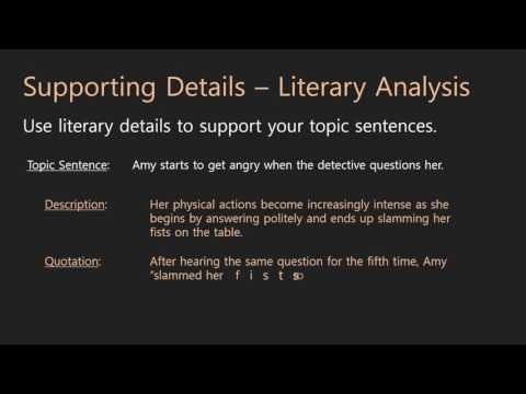 Essay Writing | Body Paragraphs | 08b Literary Details