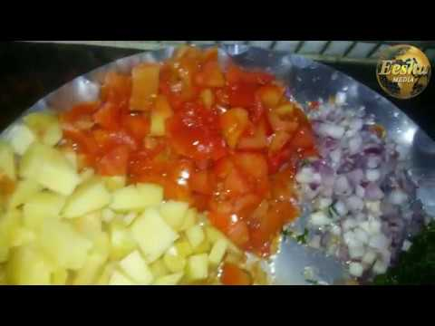 RECIPE OF BRINJAL ALU AND TOMATO CURRY by Eesha Media