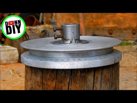 Homemade Pulley Made From Beer Cans - Melting Aluminum #3