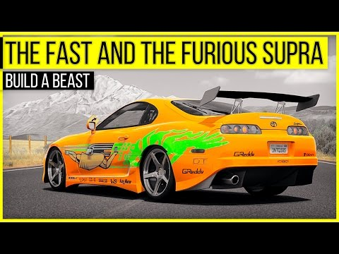 Fast and the Furious Toyota Supra - Build A Beast | Forza Horizon 3
