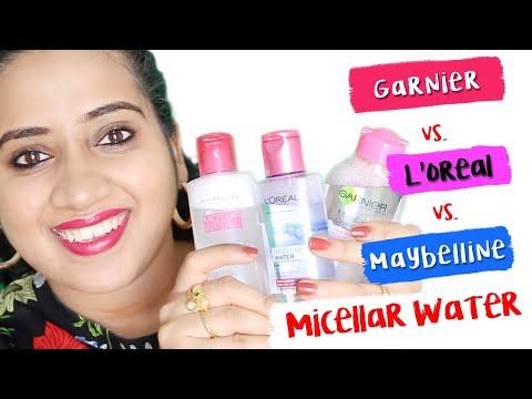 GARNIER MICELLAR WATER vs. L'OREAL MICELLAR WATER vs. MAYBELLINE MICELLAR WATER-LIVE DEMO