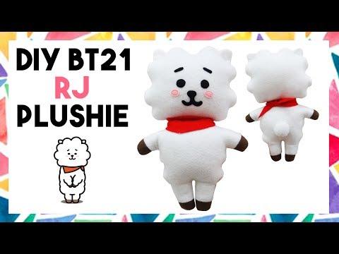 DIY BT21 RJ PLUSHIE! (FREE TEMPLATE) [CREATIVE WEDNESDAY]