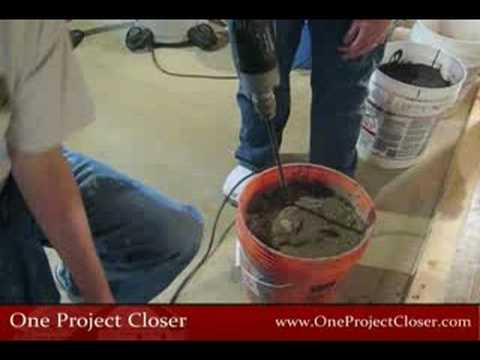 How to Mix Self Leveling Mortar (Cement)