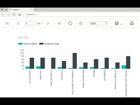 การสร้างกราฟด้วย ASP.NET C# Create a Chart Using ReportViewer (RDLC)  on Visual Studio 2017