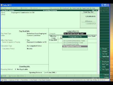 Payroll Accounting in Tally (Part 3)