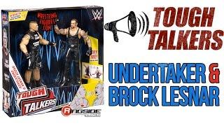 WWE FIGURE INSIDER: Brock Lesnar & Undertaker - Mattel WWE Tough Talkers 2-Packs Series