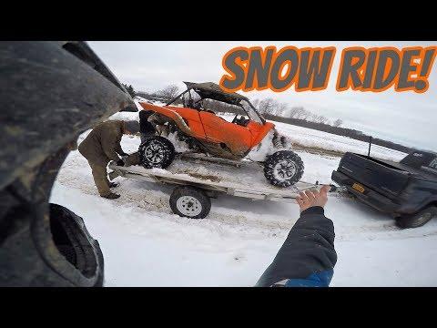 YXZ 1000R first snow ride!!!