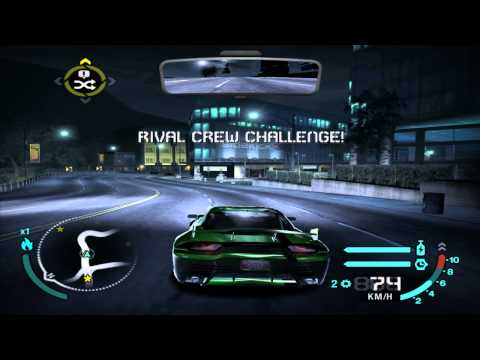 NFS: Carbon - Rival Crew/Free Roam Challenges - Downtown Palmont (1-15)
