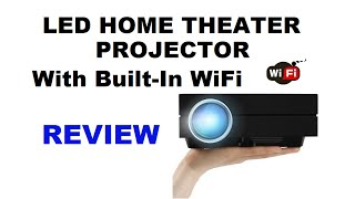 Home Theater Projector with Built-In WiFi - REVIEW / Home Cinema Projector Demo - Erisan