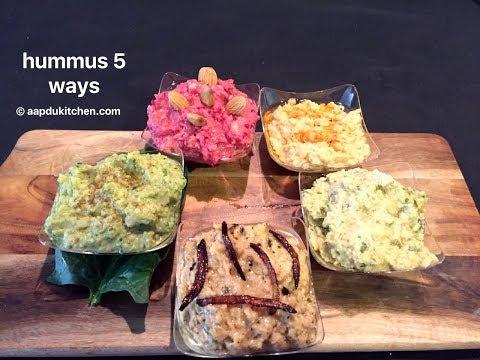 perfect homemade healthy hummus 5 ways