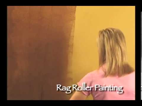 WOOLIE Rag Roller Painting Techniquewmv