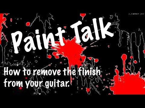 How to remove the finish from your guitar.