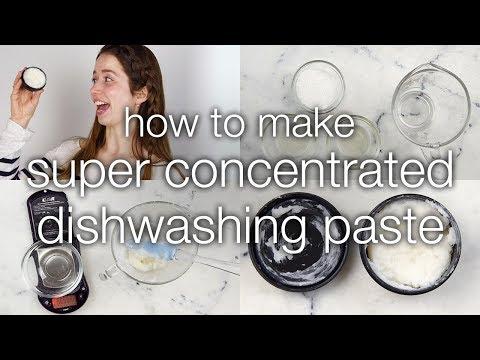 How to Make Super Concentrated Lemon Dishwashing Paste