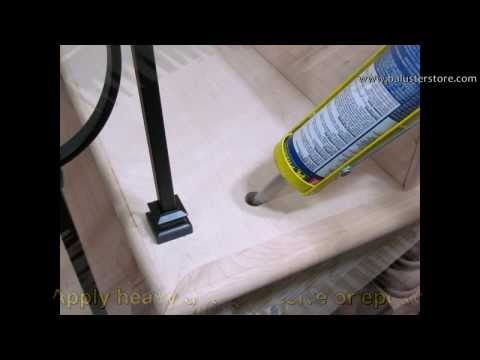 How to install iron balusters, iron stair parts, stair building supplies, home improvement