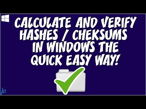 Calculate and Verify Hashes or Checksums of Files in Windows the Quick Easy Way!