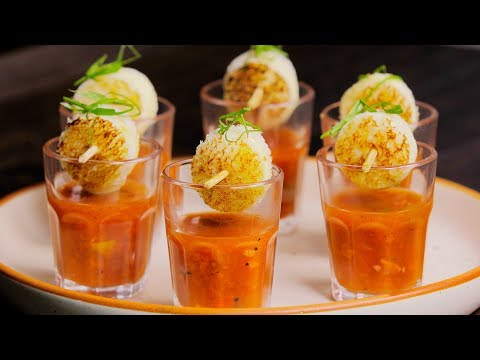 Gobble | Tomato Soup Shots and Cheese Toasties