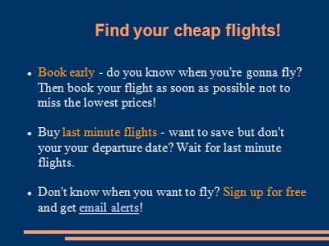 Find Your Airfare Deals