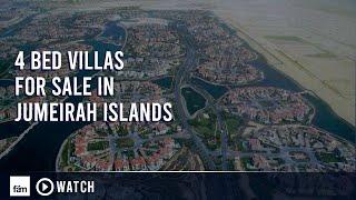 Jumeirah Islands - 4 Bedroom Villas for Sale in Dubai