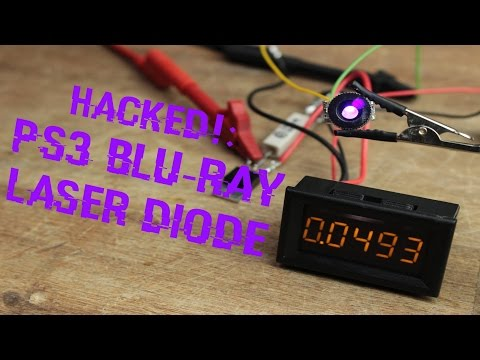 HACKED!: PS3 Blu-Ray Laser Diode || Simplest Constant Current Source