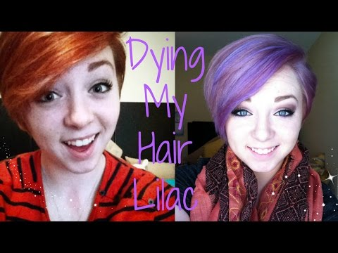 Dying My Hair Red to Lilac/Lavender!