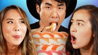 Try Guys 300 Sushi Pc Mukbang Ft The Food Babies