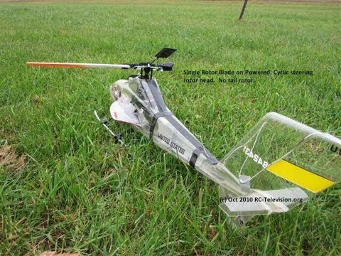 Single Rotor Blade Helicopter.  (Experiment)