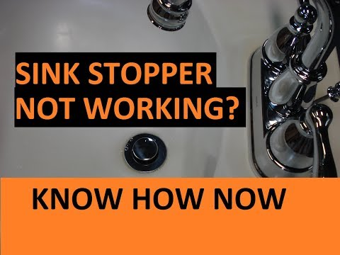 How to Adjust a Bathroom Sink Stopper