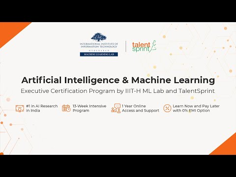 Artificial Intelligence & Machine Learning (AI & ML) - Launch of Batch 1